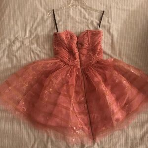 🎀 Pink Strapless Betsey Johnson Dress 🎀